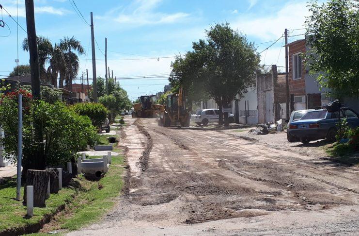 Las obras comenzaron en calle Humanes.