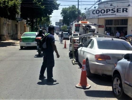 El personal de Tránsito secuestro el automóvil.