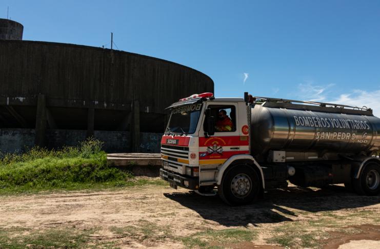 Bomberos sofocó un principio de incendio en la exdepuradora.