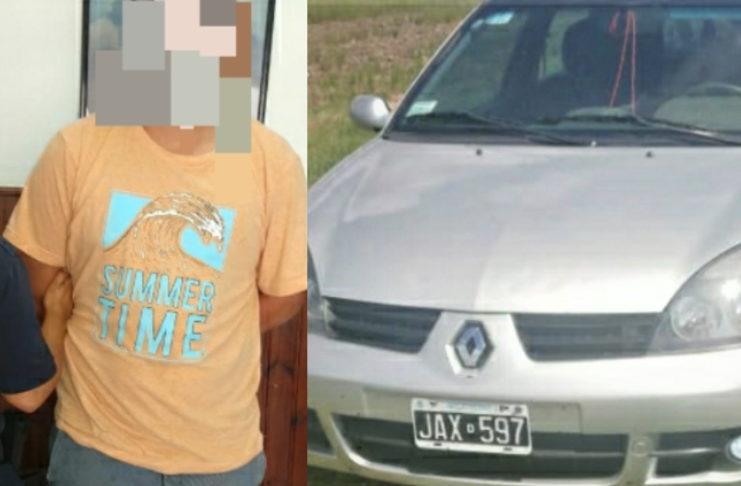 Cejas fue detenido en Pergamino cuando huía en un Renault Clio.