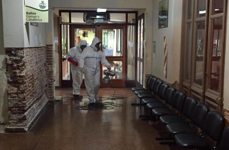 La Municipalidad fue sanitizada varias veces tras la aparición de casos de COVID positivo.