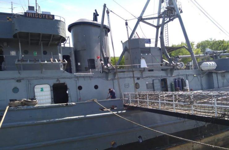 El buque museo vuelve, de a poco, a la normalidad.