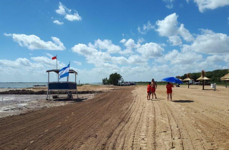 La playa de Vuelta de Obligado ya está habilitada.