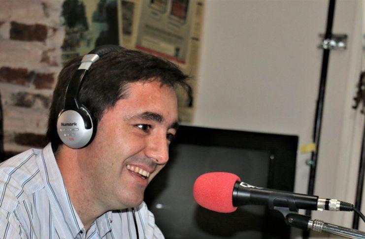 Marcos Pisani durante una entrevista en el estudio de Sin Galera.