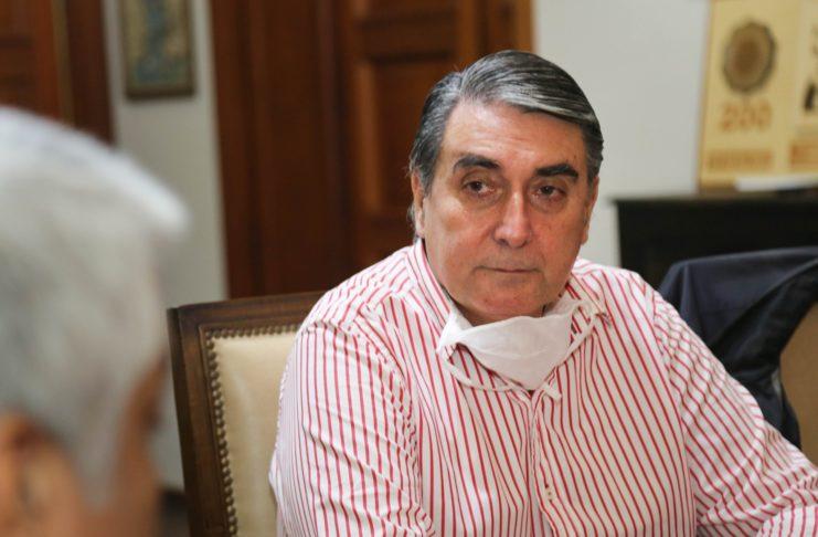 El presidente del Centro de Comercio, Raúl Cheyllada.