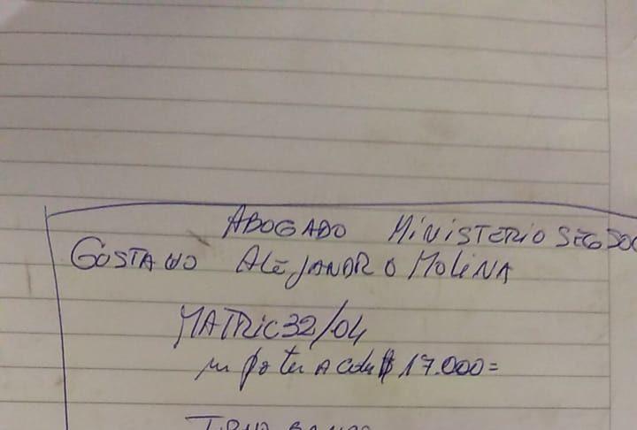 La vecina apuntó todos los datos en un cuaderno para difundir el engaño.