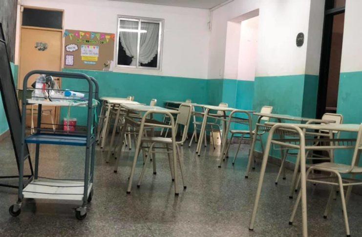 En San Pedro hay escuelas, como la secundaria 15, que tienen organizados sus protocolos desde hace tiempo para el retorno a clases.