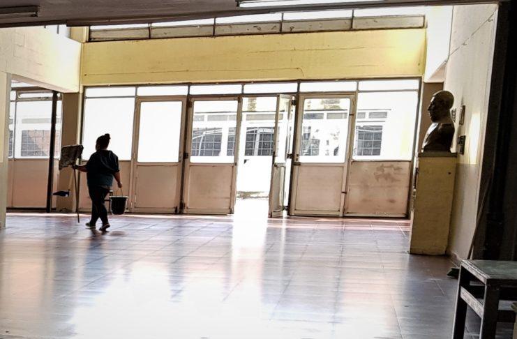 La escuela Industrial está afectada al operativo de vacunación.