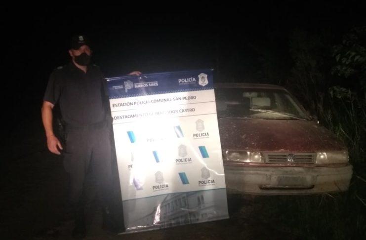 El Volkswagen Pointer secuestrado en Vuelta de Obligado.