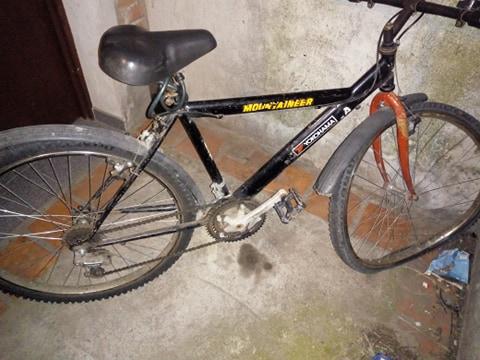 Así quedó la bicicleta tras el accidente.