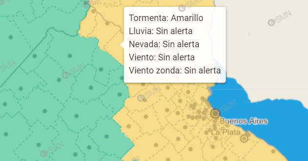San Pedro aparece entre los distritos con alerta amarilla de la región.