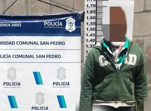 Jonathan Raúl Monzón fue detenido y puesto a disposición de la Justicia.