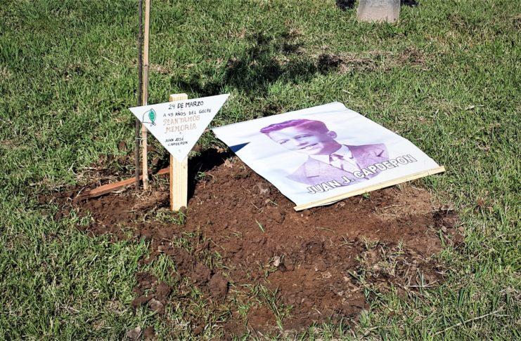 El domingo plantaron un árbol en recuerdo de Juan José Capdepon.