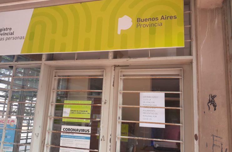 El Registro Civil, cerrado por coronavirus.