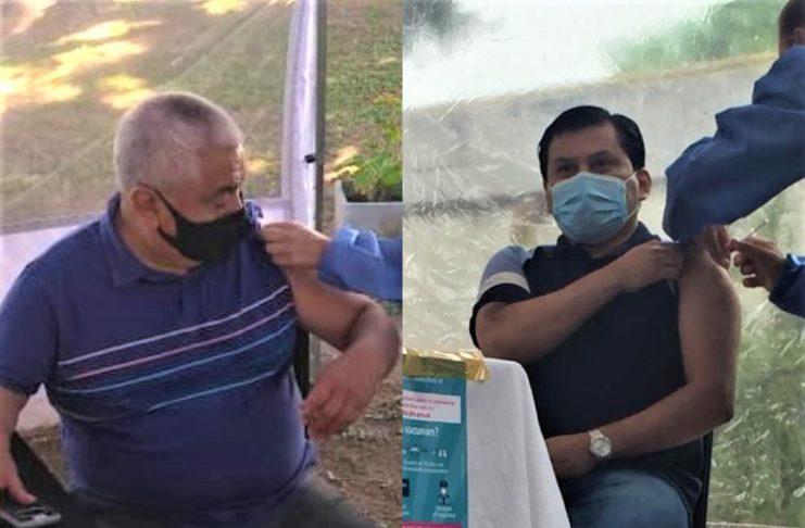 Ramón Salazar se vacunó el 5 de enero y Cecilio el 21.