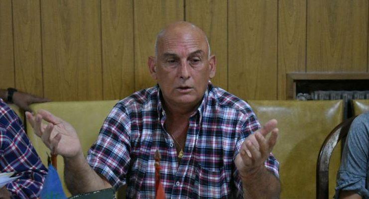 El presidente de la Liga Deportiva Sampedrina, Hugo Cejas.