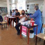 En San Pedro se aplican vacunas en el Hospital y en el Centro de Jubilados.