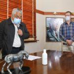 El intendente Salazar y el secretario de Salud, Daniel Creus.