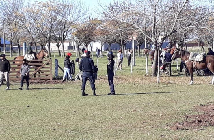 Policía e Inspección intervinieron en el lugar.
