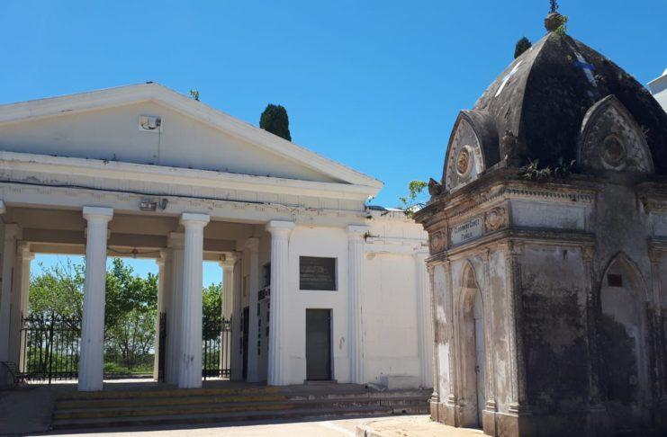 La bóveda de Clodomiro Gómez que desató el escándalo.