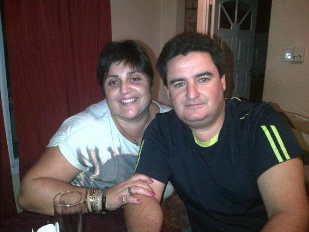Natalia Claverini y Alejo Baronguele, en una foto de hace unos años.