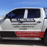 La camioneta en la que se movilizarían Ariel Maciel y la adolescente.