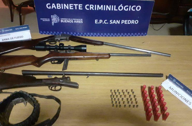 Los elementos secuestrados en un barrio de Santa Lucía donde hubo allanamientos.