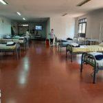 La denominada Ala 3 del Hospital de Salto, acondicionada para recibir pacientes COVID-19.