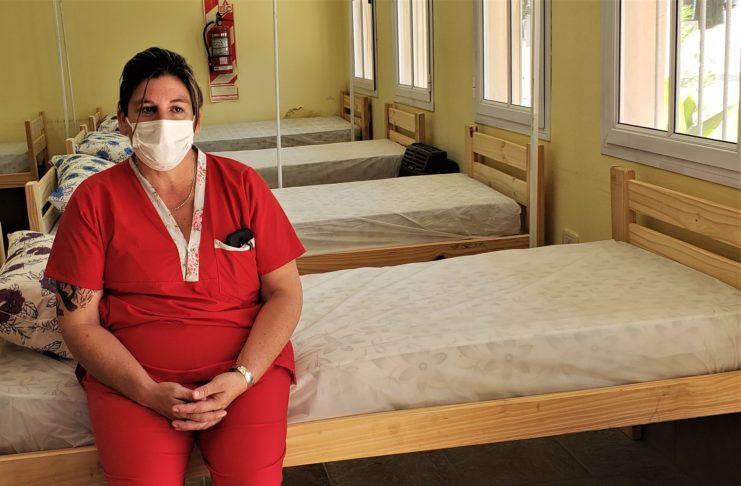 El centro de aislamiento de ANDAR recibió la primera paciente.
