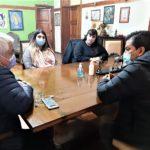 Cecilio y Ramón Salazar recibieron el jueves a Tamara Vlaeminck y Camila Caballero, las figuras locales de La Cámpora.