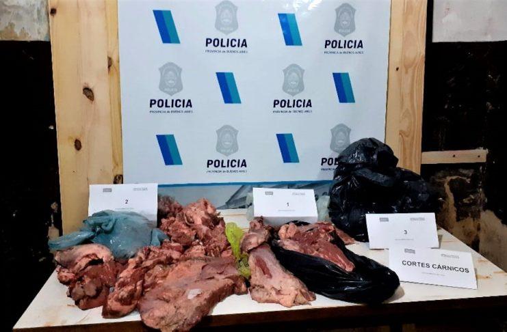 La carne secuestrada en Río Tala.