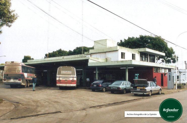 La terminal de ómnibus en los años 90.