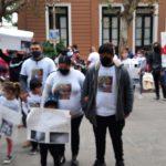 Familiares y allegados a Germán López García marcharon este martes.