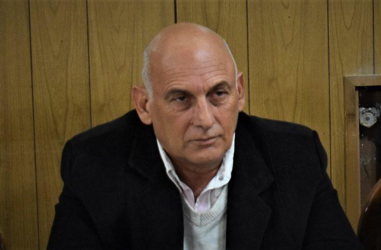 Hugo Cejas, presidente de la Liga Deportiva Sampedrina en uso de licencia y policía retirado.