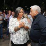 Majo Mora y Cecilio Salazar el día de la inauguración del Centro Cultural Abelardo Castillo, uno de los hitos de su gestión.