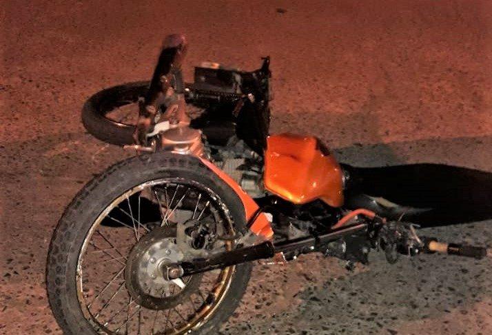 Braian Guimen conducía una moto Honda.