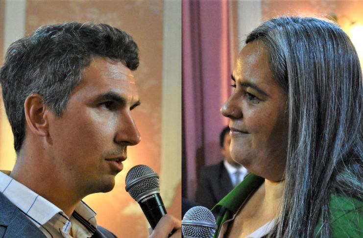 Juan Garavaglia y Majo Mora, el día que juraron como ediles en diciembre de 2019.