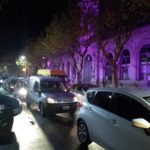 La protesta del viernes pasado reunió a alrededor de 80 comerciantes.