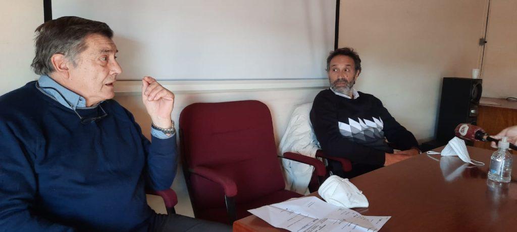 Colella y Nasif encabezaron la conferencia de prensa.