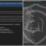 A la izquierda, el posteo del hacker que filtró los datos; a la derecha, e-mails y claves filtradas.