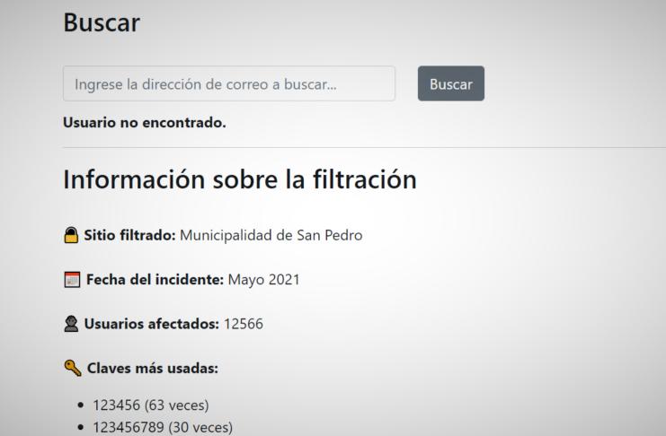 En la página web https://www.filtracionessanpedro.com se puede verificar qué usuarios fueron afectados.