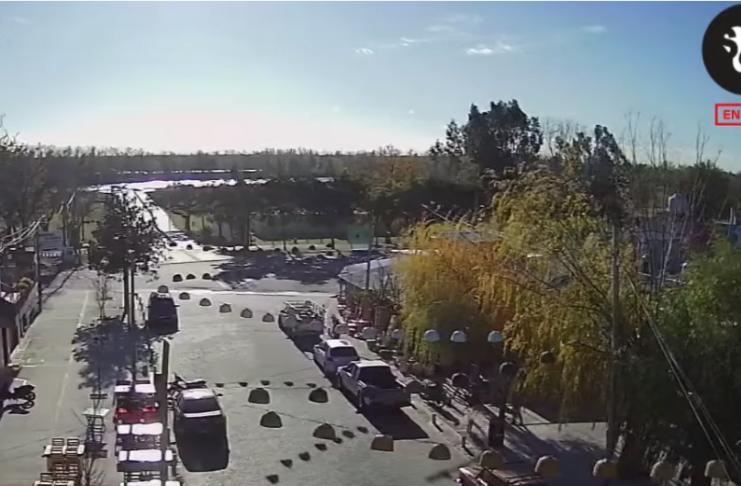 La zona del Paseo Agenor Almada, desde las cámaras de Sin Galera TeVe.