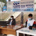 Camila Caballero explicó junto a Creus y Eliseo Almada cómo funcionará el puesto sanitario.