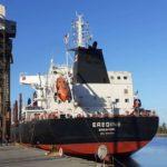 El buque Eredine cargaba 29 mil toneladas de trigo con destino a Brasil.