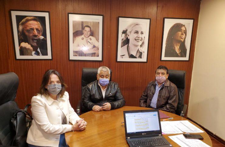 Salazar, Voytenco y Sánchez Jaúregui, el día en que firmaron la integración del partido Fe al Frente de Todos.
