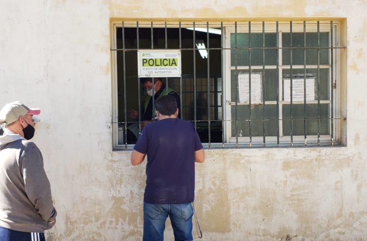 El puesto de verificación policial está en el Polo de Seguridad.