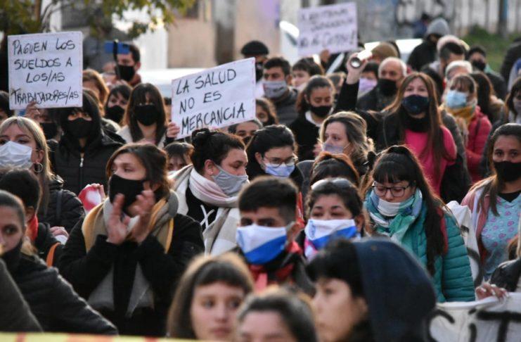 El viernes, en la marcha, trabajadores y trabajadoras supieron de las negociaciones con Sadeyk SRL.