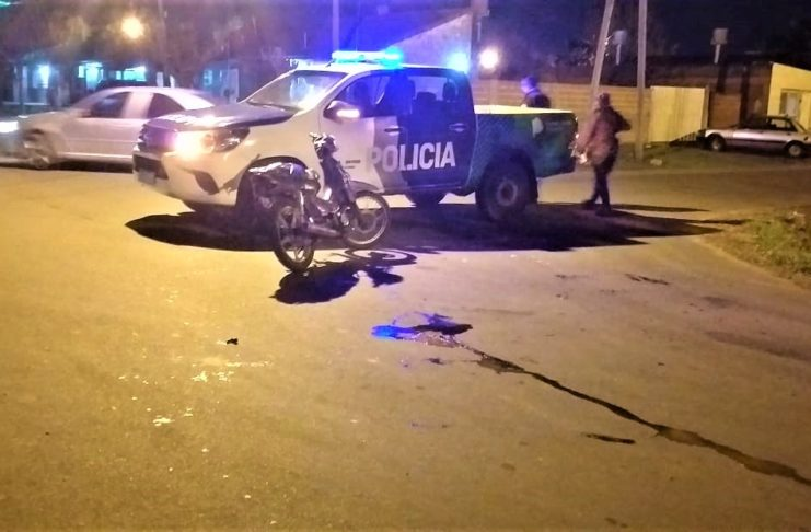 El accidente ocurrió este jueves por la noche.