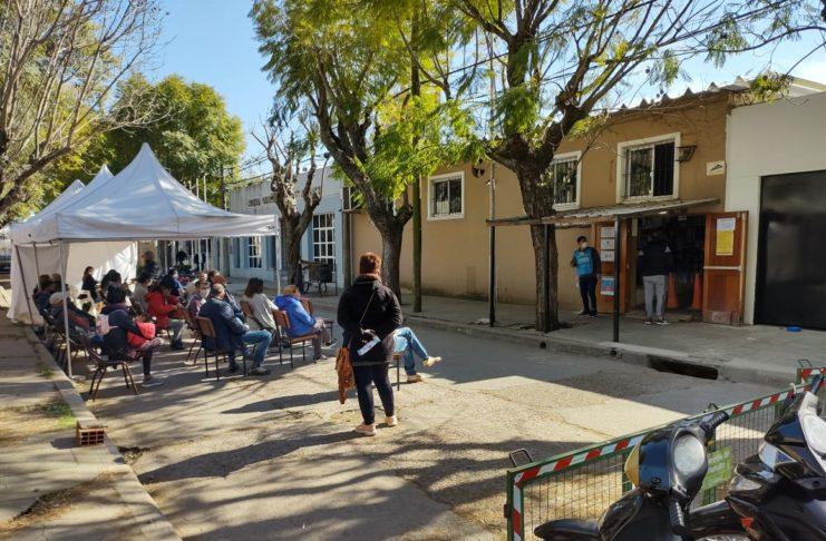 El vacunatorio del programa Vacunate Buenos Aires en San Pedro.