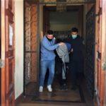 Albacete, al salir de Fiscalía tras la indagatoria.